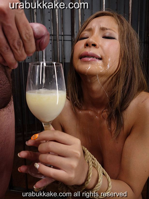 Believe, that Drink cum from glass slut load