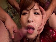 Kaho Kasumi nasty bukkake for pretty babe face cov...