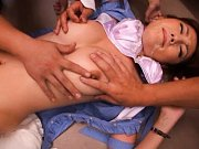 Tsubasa Amami babe gets her hot tits groped and ge...