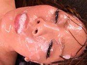 Hitomi Tanaka bukkake babe with massive natural br...