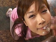 Hime Kamiya letting cum drip down her face in this...