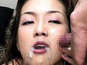 Moe Nishimura cum all over her face in this bukkak...