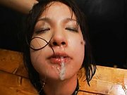 Ryo Tsujimoto bondage and covered in sperm in this...