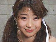 Japanese cutie Mahiro Aine gets her face smeared w...