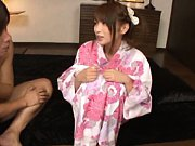 Hana Nonoka Asian has boobs taken out of geisha dr...
