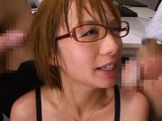 Rika Hoshimi Asian with big cans is touched by men...