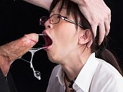 Teen office lady gets facefucked by her master who...