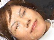 Hime Kamiya has cum in her eyes and hair during bu...