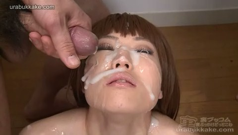 Bukkake babe Chiaki loves to be facialized with lots of cum
