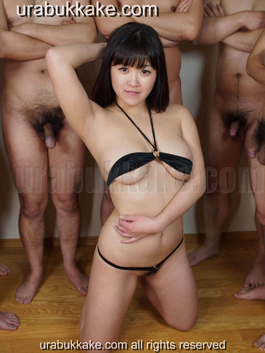 Bukkakeura present amateur Japanese bukkake actress, Saho