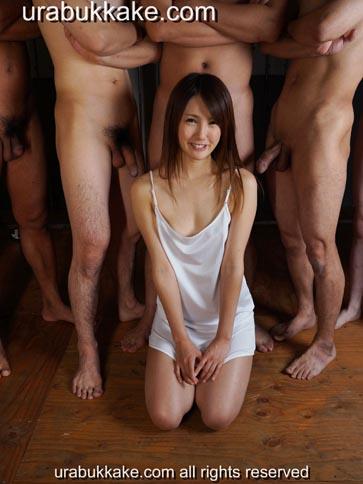 Bukkake model Natsumi, Japanese Bukkake and Gokkun