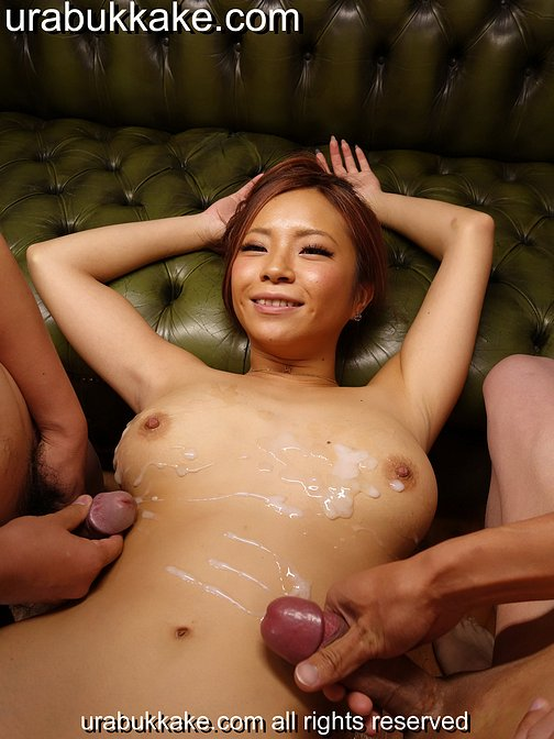 Massive big tits Sumire Matsu loves bukkake blowbang and gangbang parties