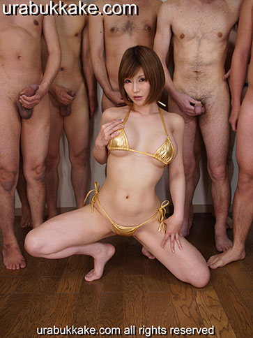 Japanese Bukkake Idol Rei - BukkakeUra.com