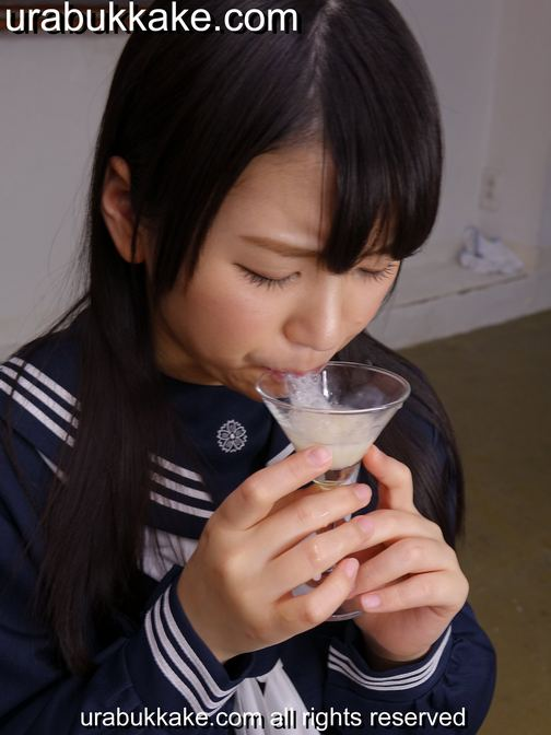 Bukkake, urabukkake, Japanese bukkake, bukkakeura, gokkun, schoolgirl, cum-drinking, blowjobs, blowbangs