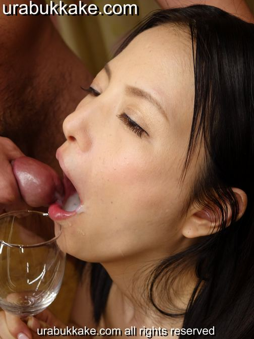 Miria,Hazuki,Urabukkake, Bukkake, Japanese, Tokyo, JAV,Idols, gokkun, cum-drinking, fetish,   gang,bang, blow, bang, uncensored, no-mosaic, Bukkake Idol Miria Hazuki - UraBukkakeUra.com